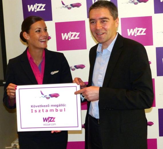 Zsuzsa Lázár and CCO György Abrán announced the new route in Budapest