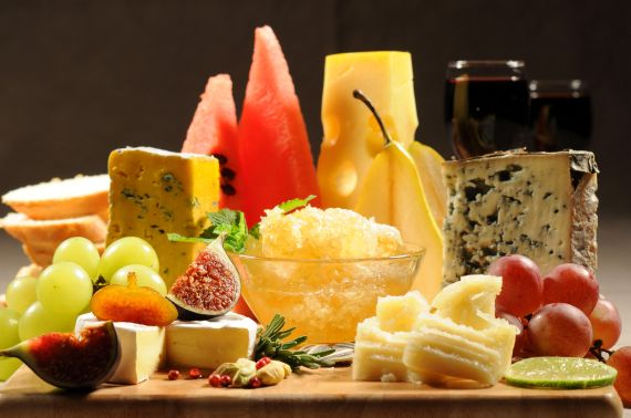 cheeses-bread-watermelons-pear-grapes-glasses-wine_4288x2848