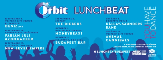 Orbit Lunch Beat in Budapest 2015